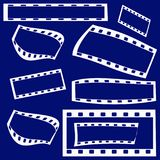Film frames. On blue background Stock Image