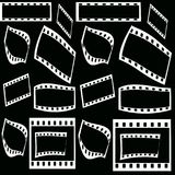 Film frames. On black background Royalty Free Stock Image