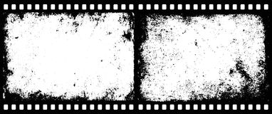 Film frames. Grunge film frames with transparent space insert for picture or text Royalty Free Stock Images