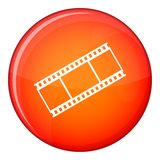 Film with frames icon, flat style Royalty Free Stock Photos