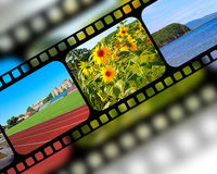 Film with frames Stock Image