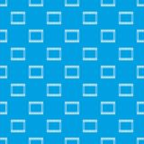Film with frames movie pattern seamless blue. Film with frames movie pattern repeat seamless in blue color for any design. Vector geometric illustration Stock Photos