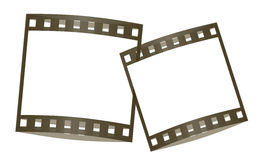Film frames plain. Cute film frames isolated in white background Royalty Free Stock Photos