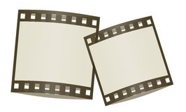 Film frames shadowed. Cute film frames shadowed and isolated in white background Royalty Free Stock Image