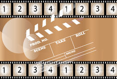 Film Fund. With movie and Slate Royalty Free Stock Images