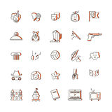 Film genre icon set Stock Images