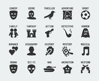 Film genres vector icon