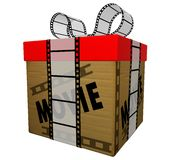 Film gift. 3d gift. On white background Royalty Free Stock Image