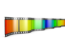 Film with gradient. Film with a color gradient on a white background Royalty Free Stock Images