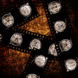 Film on grunge background. Film with x-ray scans of brain on grunge background Royalty Free Stock Photography