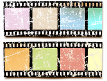 Film grunge colors. Symbol movies, photography, camera and camcorder Royalty Free Stock Images