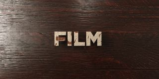 Film - grungy wooden headline on Maple  - 3D rendered royalty free stock image. This image can be used for an online website banner ad or a print postcard Stock Photos
