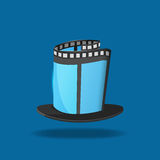Film Hat Magic Movie Icon. Vector Royalty Free Stock Image