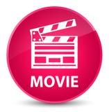 Film (het pictogram van de bioskoopklem) elegante roze ronde knoop Stock Foto