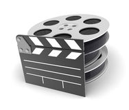 Film icon. Film on a white background in 3d Stock Photo