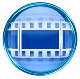 Film icon blue Stock Photography
