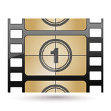 Film icon countdown. Illustration of film icon countdown Royalty Free Stock Photo