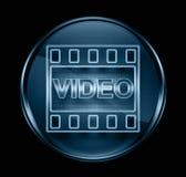 Film icon dark blue Royalty Free Stock Image