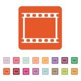 The film icon. Film symbol. Flat. Vector illustration. Button Set Stock Image