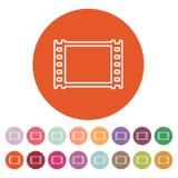 The film icon. Film symbol. Flat Royalty Free Stock Photo