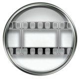 Film icon grey Stock Images
