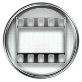 Film icon grey Royalty Free Stock Photography