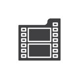 Film icon vector, filled flat sign, solid pictogram isolated on white. Royalty Free Stock Images