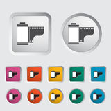 Film icon. Vector illustration EPS Royalty Free Stock Photography