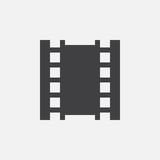 Film icon, vector logo, linear pictogram isolated on white, pixel perfect illustration. Film icon, vector logo, linear pictogram isolated on white, pixel Royalty Free Stock Photo