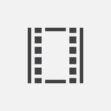 Film icon, vector logo, linear pictogram isolated on white, pixel perfect illustration. Film icon, vector logo, linear pictogram isolated on white, pixel Royalty Free Stock Photos