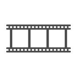 Film icon vector. Film strip icon. Camera roll or photographic film vector sign Stock Image