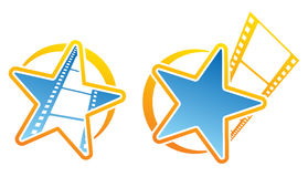 Film icons. Symbols for cinema or photo studio Royalty Free Stock Photos