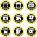 Film icons Stock Photography