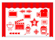 Film icons. Vector illustration of film icons Stock Image