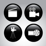 Film icons. Over gray background vector illustration Royalty Free Stock Photography