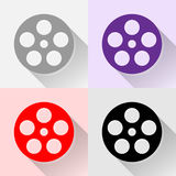 Film icons set great for any use. Vector EPS10. Royalty Free Stock Photo