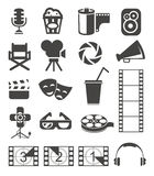 Film icons. Set of media and film web icons Stock Photo