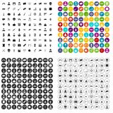 100 film icons set vector variant. 100 film icons set vector in 4 variant for any web design isolated on white Stock Image