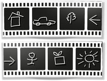 Film icons Stock Images