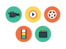 Film icons. Vector multimedia set Royalty Free Stock Photo