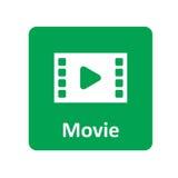 Film ikona dla sieci i wiszącej ozdoby Zdjęcie Stock