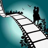 Film illustration. Film with couple illustration vector Royalty Free Stock Photos