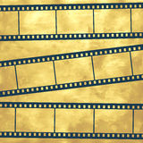 Film. Illustration of the abstract film strips on vintage background Royalty Free Stock Images