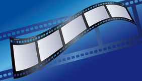 Film illustration blue. Vector illustration of a movie film Royalty Free Stock Images