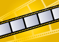 Film illustration yellow. Vector illustration of a movie film Stock Images