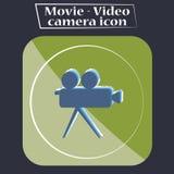 Film - illustrazione dell'icona della videocamera Immagini Stock Libere da Diritti