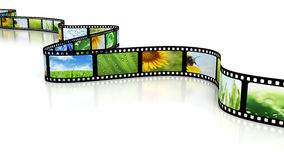 Film with images. Film full of different images vector illustration