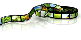 Film with images Stock Image