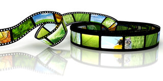 Film with images Royalty Free Stock Images