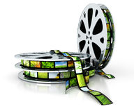 Film with images. 3D render vector illustration